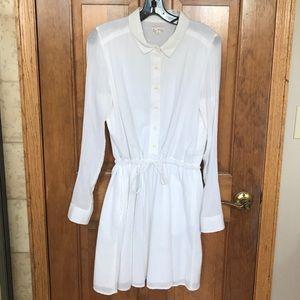 Gap white gauze shirt dress